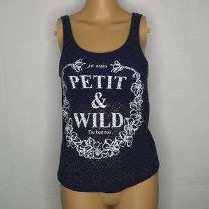 BSK Bershka Petit & Wild French Knit Tank Top Cami